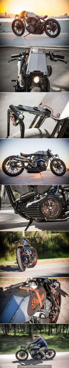 Roland Sands' Indian Chieftain-powered boardtracker custom motorcycle. Click to read the full story