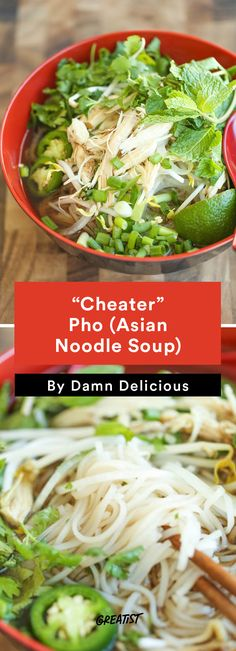 """2. """"Cheater"""" Pho (Asian Noodle Soup) #easy #dinner #recipes http://greatist.com/eat/easy-dinner-recipes-to-make-this-week"""