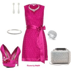 """MY PINK GLITZY VALENTINE!!!!"" by marion-fashionista-diva-miller on Polyvore"