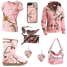 Grab a drink and snuggle next to your man; we've got a ton of camo gifts for him to buy his lady. pink camo earrings, women's camo sho Camo Outfits, Girl Outfits, Fashion Outfits, Date Night Outfit Curvy, Country Style Outfits, Under Armour Sweatshirts, Pink Camouflage, Camouflage Wedding, Cute Summer Outfits
