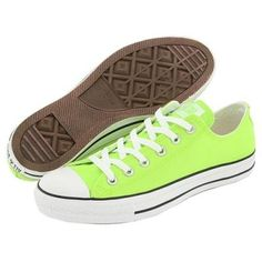 lime green converse   @Cristina Villanueva saw these and thought of you! lol