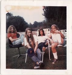 Polaroid Prints of Teen Girls in the 1970s