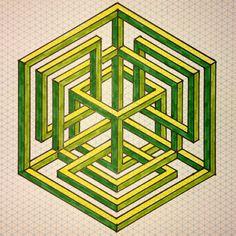 #regolo54 #impossible #isometric #penrosetriangle #oscarreutersvärd…