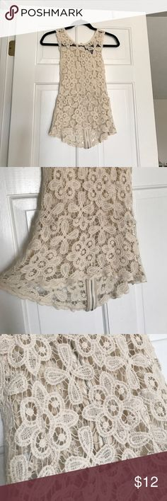 Cynthia Rowley Peplum Lace Top Cream colored. Peplum fit. Size XS. Never been worn - NWOT. No imperfections. Great summer piece. Cynthia Rowley Tops Tank Tops