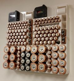 Keep your batteries organized and easily see what you need. Never hunt through your clutter for batteries again! #affiliate