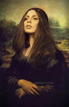 Lady Gaga as Mona Lisa! Lady Gaga Images, Lady Gaga Photos, Ahs, Caricature, Bd Pop Art, Happy Birthday To You, Lady Gaga Artpop, Rupaul Drag Queen, Mona Lisa Smile