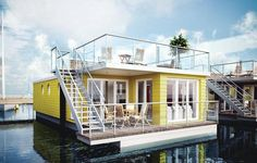 Ostseeurlaub auf dem Hausboot: 1 Woche für 4 Erwachsene + 2 Kinder mit Dachterrasse, Kamin, privater Sauna + Meerblick ab 98,50 € pro Person - Urlaubsheld | Dein Urlaubsportal