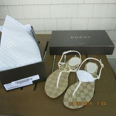 Authentic Gucci flat thong sandals. Size 7. New in box. In perfect new condition. Authentic Gucci.  No trade. Gucci Shoes