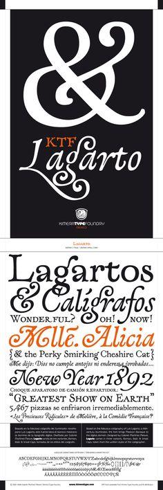 KTF Lagarto typeface by Gabriel Martínez Meave, via Behance