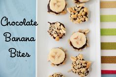 Watch this chocolate banana bites video. They're so easy and healthy frozen treat for families! A great use for over ripe bananas too!