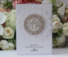 Diy Envelope, First Communion, Place Cards, Boxes, Scrapbooking, Place Card Holders, Silhouette, Paper, Beautiful