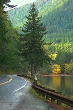 Lake Crescent, Washington. Olympic National Park.