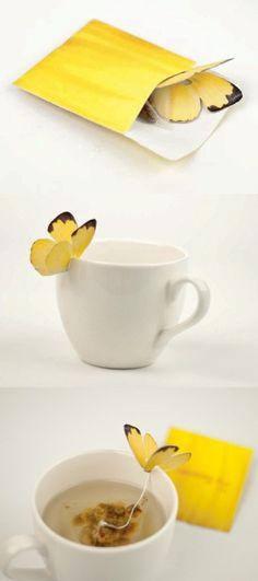 Butterfly tea bag. AMAZING LOVE IT!!