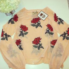 Beauty and The Beast Sweater by Wildfox. Must have for fall! #wildfox #sweater #kkbloomboutique