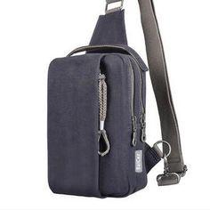 New Arrival Canvas Men Crossbody Bag Brand Designer Fashion Waist Bag Money Phone Belt Shoulder Bag Chest