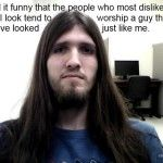 Jesus is a face of r/atheism. Atheist Humor, Free Thinker, Atheism, Worship, Believe, Religion, Guys, Face, Funny