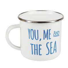 You, Me and the Sea - Enamel Mug from the Beach Boutique