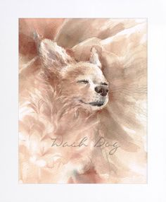 Cream Chihuahua print of original watercolor painting, Chihuahua painting, Chihuahua portrait, Chihuahua, Dog watercolor, Gift for dog lover by WashDogBkk on Etsy