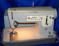 The Singer 457 'Stylist' sewing machines was one of a new generation of domestic sewing machines when it was introduced in 1969. The 457 Stylist was finished in a trendy beige colour and was of a much sleeker appearance that the old 'black' Singer's which had been the standard almost since sewing machines were invented well over 100 years earlier. Although it still retained a metal body the top cover, spool pin, controls backplate etc. were all made of plastic.
