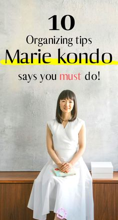 10 Genius Organizational Tips from Tidying Up with Marie Kondo The KonMari Method is pro organizer Marie Kondo's minimalism-inspired approach to organizing. Here are the 10 best organizational tips from Marie kondo! Professional House Cleaning, House Cleaning Tips, Cleaning Hacks, Spring Cleaning Schedules, Cleaning Closet, Deep Cleaning Tips, Rv Hacks, Organisation Hacks, Clutter Organization