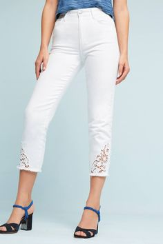 Slide View: 2: Joe's Debbie Ultra High-Rise Skinny Embroidered Jeans