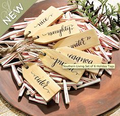 A DIY tutorial to make giant wood tags. Create a unique wreath alternative front door decor with giant wood tags perfect for any season. Christmas Crafts, Christmas Decorations, Christmas Ideas, Christmas Centrepieces, Merry Christmas, Celebrating Christmas, Christmas Activities, Christmas Inspiration, Fall Crafts