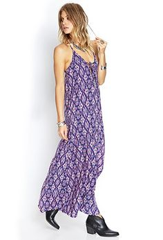 Ikat Y-Back Maxi Dress | Forever 21 - 2055879727