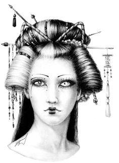 Modern_geisha_by_ShadowOfTheTwilight.jpg (766×1042)