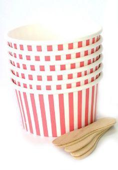ice cream cups & spoons (12)