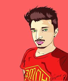 #illistration #red #dude #sathya