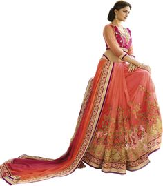 Rani Colored Satin Georgette Saree By Saryu Sarees on Shimply.com
