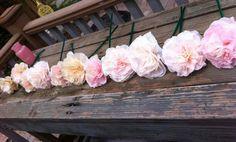 coffee filter flowers, paper flowers, cheap wedding ideas