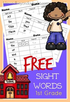 These free first grade sight words worksheets help students master the dolch grade one high frequency words that are taught in the classroom.