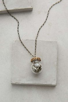 #anthrofave Pyrite Jar Necklace
