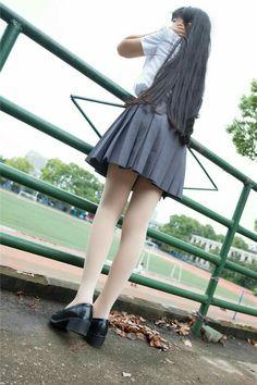 Japan landscape and nature of four seasons with cute girls School Girl Japan, School Girl Outfit, Japan Girl, Girl Outfits, Cute School Uniforms, School Uniform Girls, Girls Uniforms, Beautiful Japanese Girl, Beautiful Asian Girls