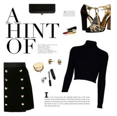 """""""Untitled #325"""" by duciaxoxo ❤ liked on Polyvore featuring Dolce&Gabbana, Jack Wills, Estée Lauder, Bobbi Brown Cosmetics, Chanel, Judith Leiber, Kasun, gold, black and NightOut"""