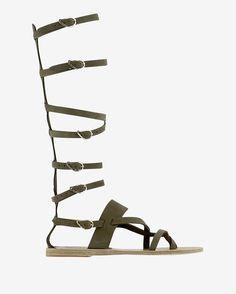 Ancient Greek Sandals Knee High Gladiator Flat Sandal         @kimludcom