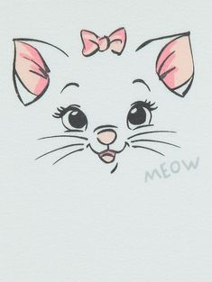 Easy Disney Drawings, Mini Drawings, Cute Easy Drawings, Cute Animal Drawings, Cool Art Drawings, Disney Stitch Tattoo, Simple Cat Drawing, Kitten Drawing, Gata Marie