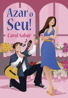 """Título: Azar o seu! Autora: Carol Sabar Editora: Jangada  Resenha #51 de 2013: http://entrepalcoselivros.blogspot.com.br/2013/06/resenha-azar-o-seu.html  """"Gente, vocês não fazem ideia de como esse livro é divertido!!!! É sensacional o jeito que a Carol escreve, eu dei gargalhadas durante quase toda a história."""""""