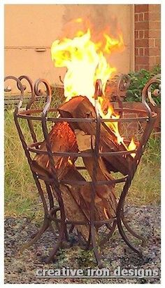 """Discover even more relevant information on """"fire pit flagstone"""". Take a look at … - Metal Art Metal Projects, Outdoor Projects, Metal Fire Pit, Fire Pits, Fire Basket, Fire Pit Materials, La Forge, Blacksmith Projects, Forging Metal"""