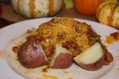 Garden Fresh Chili on Red Potatoes - crockpot recipe