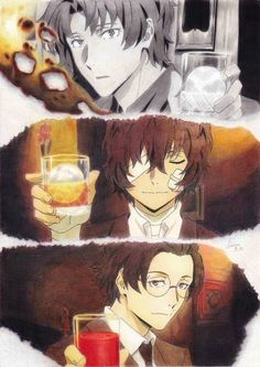 Odasaku, Dazai, and Ango Manga Anime, Me Anime, Anime Art, Dazai Bungou Stray Dogs, Stray Dogs Anime, Dazai Osamu, Animal Jam, Animation, Training Your Dog