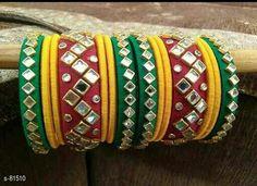 Silk Thread Earrings Designs, Silk Thread Bangles Design, Silk Bangles, Thread Jewellery, Paper Jewelry, Beaded Jewelry, Handmade Jewelry, Pearl Jewelry, Bangles Making