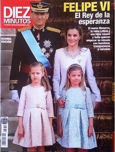 Coroação de Felipe VI na Revista Diez Minutos.