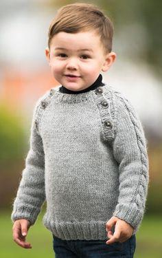 Strikket sweater til drenge   Familie Journal