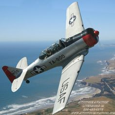 North American T-6G Texan Ww2 Aircraft, Military Aircraft, Flying Ace, Air Space, Aviation Art, World War Two, Wwii, Airplane, Fighter Jets
