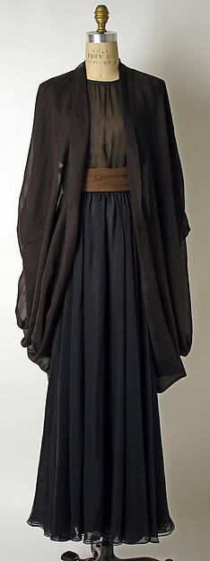 Yves Saint Laurent - Evening dress, 1988 - [ black and browns ]