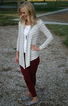 Striped cardigan, perfect for fall and only $16.99