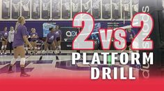 2 vs 2 platform drill with Jill Kramer Does your team need to practice sending & defending free balls? Try this 2 vs. 2 drill that only allows passing! Volleyball Passing Drills, Volleyball Skills, Volleyball Practice, Volleyball Games, Volleyball Training, Volleyball Workouts, Coaching Volleyball, Beach Volleyball, Basketball Plays