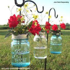 DIY Hanging Vases 12 Ball Mason Jar Hanging Flower Frog LIDS, for Candles, Flowers, Lanterns, Mason Jar Weddings